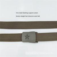 Wholesale genuine underwear resale online - Student Bayitraining belt Underwear canvas outdoor combat camouflage nylon woven canvas labor protection Sports men s and women s inner belt