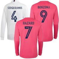 Wholesale soccer jerseys full uniform for sale - Group buy 20 Real Madrid HAZARD MODRIC Long Sleeves Mens Soccer Jerseys SERGIO RAMOS BENZEMA ISCO BALE MARIANO Football Shirt custom Uniform