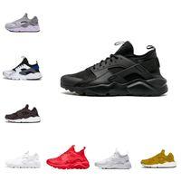 Wholesale huarache new color for sale - Group buy New Color Huarache Custom Running Shoes Cheap Men Navy Blue Black White Tan Huaraches Sneakers Air Designer Huraches Cheap Hurache Trainers