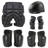 Wholesale male elbow resale online - Long board anti fall elbow Equipment protection guard set adult protective equipment kneepad male and female professional protection skatebo
