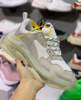 Wholesale boy s shoes resale online - 20202019 Fashion Paris Triple S Trainers Fushia Green TRIPLE S CLEAR SOLE Cheap Sports Triple S Shoes Size for Big Boys Girlsmens wome