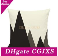 Wholesale pillow case art for sale - Group buy Abstract Black And White Striped Dotted Pillow Case Grid Triangular Geometric Art Linen Pillowcases Without Pillow