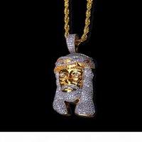 Wholesale white jesus piece for sale - Group buy 2018 New Arrivel Hip Hop Christ K Gold Plated Jesus Head Charm Men Pendant Religious Catholic Jesus Face Piece Pendant Jewelry