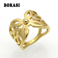 Wholesale punk rock knuckle ring for sale - Group buy Hollowed Flower Punk Gold Rings Female Anillos Stack Plain Band Midi Mid Finger Knuckle Rings For Women Anel Rock Jewelry