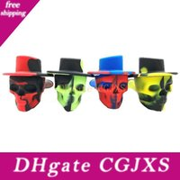 Wholesale europe pipe for sale - Group buy Skull Head Silicone Pipe Popular Creative Camouflage Pipe Portable Tobacco Tool In Europe And America