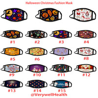 Wholesale dhl shiping resale online - fashion halloween face mask For Adult Children Christmas Mask Fashion D Printing Anti dust Breathable Washable Mask Free shiping Via DHL