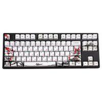 Novelty allover dye subbed Plum Blossom110 Keys OEM Profile Keycap For diy mechanical keyboard Korean Japanese character keycaps LJ200922