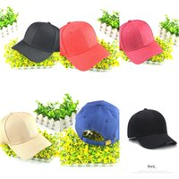 Wholesale solid black fitted baseball cap resale online - Korean style trendy men s and women s all match solid color baseball summer street Black Pink student baseball cap sun Hat sun hat sunshade