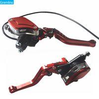 Wholesale clutch brake lever universal resale online - Universal quot mm lever Adjustable Handle Hydraulic clutch Brake Pump Master Cylinder Motorcycle Racing