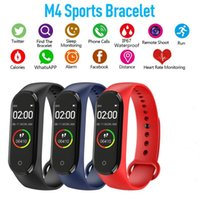 Wholesale M4 samsung smart watch Sport Bluetooth Waterproof Smartwatch Blood Pressure Heart Rate Monitor Fitness Tracker Bracelet reloj inteligente