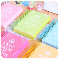 Wholesale candy notebook for sale - Group buy Sharkbang Candy Color Page Coil Blank Spiral Notebook Planner Journals DIY Graffiti Sketch Book Handbook School Stationery C0924