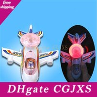 Wholesale model aircraft lights resale online - Fun Toys For Children Pull Line Luminous Aircraft Model Airplane Led Light Flashing Wind Up Plane Toys For Boys Gift H354