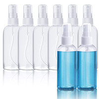 Wholesale fine bottles resale online - Plastic Clear Spray Bottles ml oz Refillable Fine Mist Sprayer Bottle Makeup Cosmetic Atomizers Reusable Empty Container DHD1563