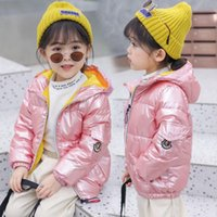 Wholesale winter flowers for sale - Group buy Quality INS Kids Boys Girls Down Coat Winter Jackets Korean Hooded White Duck Down Kids Casual Zipper Warm Boy s Clothing Outwear