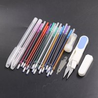 Wholesale water cutters for sale - Group buy 20pcs Water Erasable Pen ink Disappearing Fabric Marker Refills with Sewing Embroidery Needles Thread Cutter DIY Sewing Tools