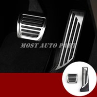 Wholesale gas pedal covers for sale - Group buy For Alfa Romeo Giulia Stelvio AT Foot Pedal Gas Fuel Brake Pedal Cover