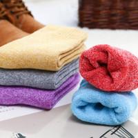 Wholesale wools mens socks resale online - 1 pair Winter Wamer Women Thicken Thermal Wool Cashmere Snow Socks Seamless Terry Boots Floor Sleeping Socks for Mens