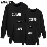 Wholesale father mother son daughter outfits resale online - SQUAD Family Matching Outfits Daddy Mommy And Me Clohtes Sweatshirt Father Son Look Mother Daughter Father Son Mom Dad Baby Girl WY6037