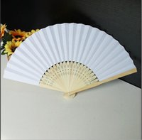 Wholesale collections paints for sale - Group buy Fan Art Set Painting Diy Wooden Chinese For Collection Blank Of Chinese Fan Fans Performance Stage Folding Paper CmUWr mywjqq