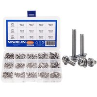 Wholesale bolt and nut resale online - 320pcs Stainless Steel M2 M3 M4 Screws Phillips Pan Head Screws Bolt and Nut Flat Washers Machine Screws Set