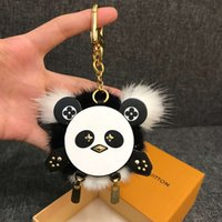 Wholesale panda key chain resale online - Panda bag and keychain Fashion Accessories Keychains BAG HOLDER TAPAGE CHARM KEY HOLDERS