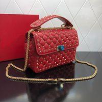 Wholesale rivet covers for sale - Group buy High quality wallet famous handbag handbag female rivet crossbody bag fashion retro real leather bags