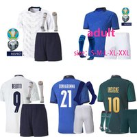 Wholesale italy soccer team for sale - Group buy 20 ITALY soccer Jerseys uropean Cup national team Italy BONUCCI IMMOBILE INSIGNE kits men kids Football jersey shirt kids kit socks
