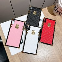 Wholesale iphone xr leather cases for women for sale – best For iPhone Pro Max XS XR X Plus Luxury Designer Women Defender Phone Case Glitter Love Fashion Shockproof pu leather Case