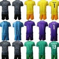 Wholesale Custom Spain Team Goalkeeper Football Jersey Kit CASILLAS Strips Kids Soccer Outfits Football Uniforms M3b