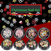 Wholesale nails glitter design for sale - Group buy 1 Box Nail Sequins Snowflakes Christmas Decoration Shiny Glitter Designs Mixed Colors D Stickers For Nail Art Manicure
