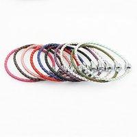 Wholesale rope chain 3mm resale online - DIY accessories genuine leather Panjia multicolor cowhide mm leather rope beads Diy Bracelet bracelet c5H9