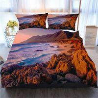 Wholesale 3d bedding set beaches resale online - 3D Designer Bedding Sets Big Sur Sunset Seascape Of Coastline Beach P Duvet Cover Designer Bed Comforters Sets