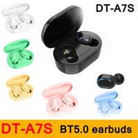Wholesale colorful earbuds online – Colorful Mini DT A7S TWS Wireless Bluetooth V5 Earphones Button Control Sports Fitness A7S Earbuds Headphones with Charging Box