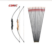 Wholesale hunt bow resale online - 30 LBS Straight Bow Split Inches Entry Bow With Arrows Set For Children Youth Archery Hunting Shooting Kids Bow