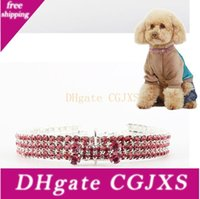 Wholesale rhinestone dog collar small for sale - Group buy Pet Collar Colorful Elastic Diamond Dog Collar Bling Rhinestone Bones Puppy Necklace Small Medium Dogs Cat Jewelry Accessories Cls627