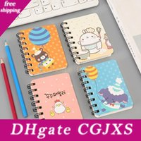 Wholesale cute notepads resale online - Journey Diary Office Notebooks Cartoon Animals Spiral Mini Notebook Printed Cute Cat Face Students Notebook Coil Notepad Bh1511 Tqq