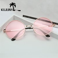 Wholesale lennon glasses for sale - Group buy a Woman s Round Sunglasses Kujuny Sunglasses in a Metal Frame Reflector John Lennon
