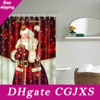 Wholesale bathroom curtains designs for sale - Group buy 30 Styles Christmas Shower Curtains Snowman Santa Claus Designs Waterproof Polyester Bathroom Shower Curtains Bath Curtain