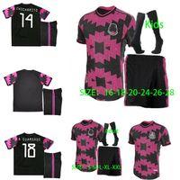Wholesale mexico national team for sale - Group buy 20 Mexico Soccer jerseys away H LOZANO DOS SANTOS CHICHARITO national team sports football uniform shirts kids socks