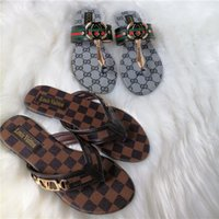Wholesale slippers for womens resale online - Fashion Flip Flops for Mens Drand high quality Womens GG Metal buckle slippers Thong Sandals Designer slides Slippers L V luxury Shoes