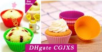 Wholesale chinese stocks for sale - Group buy Hot Round Shape Silicone Muffin Cake Cases For Cupcake Eco Food Grade Silicone Mould For Cookie Egg Tart In Stock