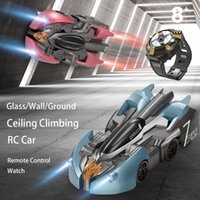 Wholesale wall cars toys resale online - Wall Climbing Car Anti Gravity Ceiling Electric Rotating Stunt RC Car Antigravity Auto Toy Cars with Remote Control Watch