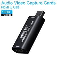 Wholesale ps4 card resale online - Mini Video Capture Card USB HDMI Video Grabber Record Box fr PS4 Game DVD Camcorder HD Camera Recording Live Streaming