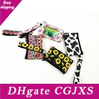 Wholesale three dimensional fabric flowers for sale - Group buy Women Bags Neoprene Girls Coin Change Bags Flower Mini Pouch Card Holder Lady Wristlet Purse Storage Bag Yw2944