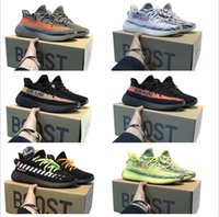 ingrosso nero yeezy-2020 kanye west adidas yeezy boost 350 v2 yeezys chaussures men yecheil scarpe yezzy shoes 3m white black reflective mens women stock x sneakers