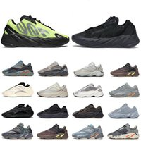 Wholesale runners mens shoes for sale - Group buy 2020 Mens running shoes women trainers kanye reflective Triple Black Orange Phosphor Magnet Azael Wave Runner men fashion sport sneakers