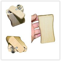 Wholesale smoked wood resale online - NEW Wooden Dugout With Glass Tube Filter Smoke Pipes Wood Tray Cases Blunt Holder Bong Tip Smoke Portable Oblong Box DHE897
