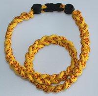 2020 baseball softball for kids art braid rope twist ropes Baseball white with red stitch sport germanium titanium tornado braided necklaces