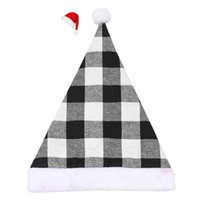 Wholesale crown ornaments christmas resale online - Adults Crown For Red Decoration Decor Hats Hats Christmas Party Black Merry Ornaments Plaid Party Xmas Childrens Christmas Hat yxlENl