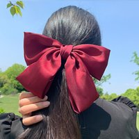 Wholesale hair cut clips resale online - 8ZRxP Red big Accessories band pin bow issuing card clip back head spoon accessories spring hair all match card clip rope headdress cut pop4q